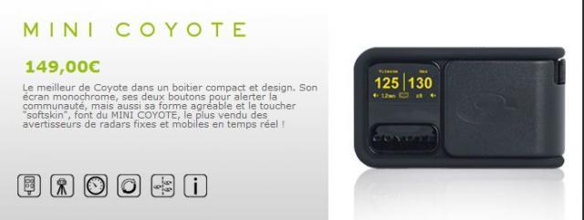 [Vends] COYOTE Mini V1 - Avertisseur de Radar Communiquant - 99€ C1-22f1d7f